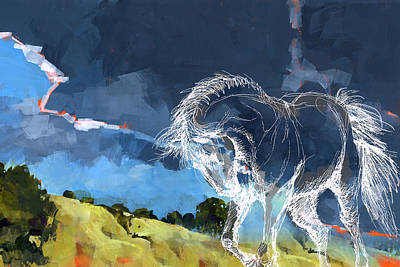 Horse Paintings 012 Art Print by Catf