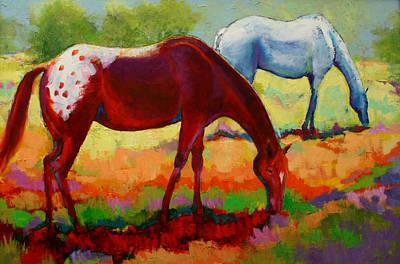 Horse Pasture Pals Art Print by Carol Jo Smidt