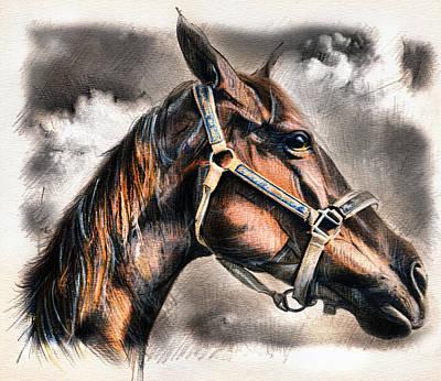 Drawing - Horse - Pencil Drawing by Daliana Pacuraru