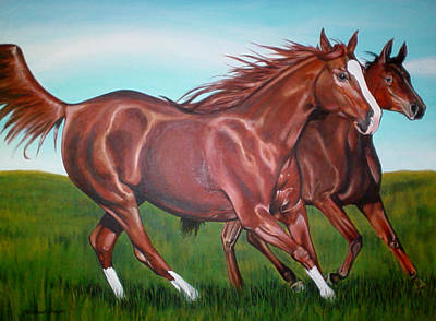 Horse Play Art Print by Michael Snyder