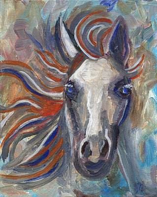 Animal Painting - Horse Portrait 101 by Linda Mears