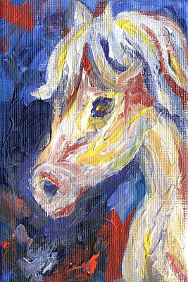 Equine Painting - Horse Portrait 104 by Linda Mears