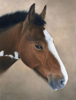 Painting - Horse Portrait Painting by Rachel Stribbling