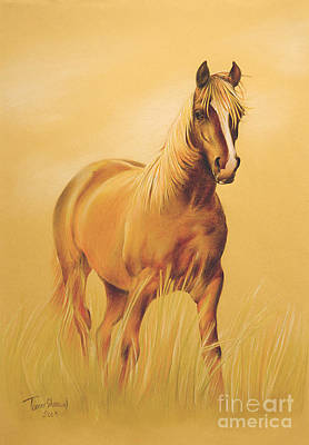 Running Horse Drawing - Horse Portrait by Tamer and Cindy Elsharouni