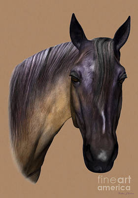 Digital Art - Horse Portrait by Walter Colvin