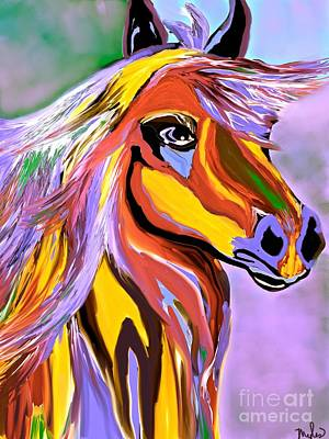 Painting - Horse Posing Pretty 2 by Saundra Myles
