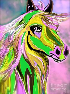 Painting - Horse Posing So Pretty by Saundra Myles