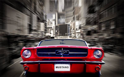 Classic Mustang Car Photograph - Horse Power by Mark Rogan
