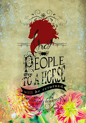 Horse Quote Original by Graphicsite Luzern