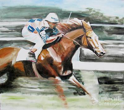 Horserace Painting - Horse Race 2 by Malena Somoza