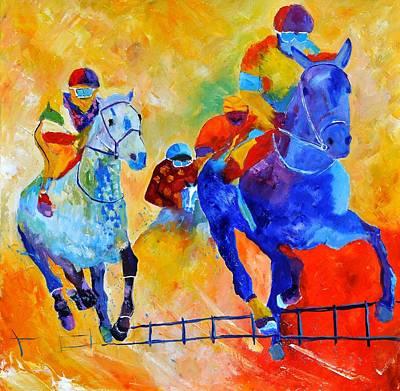 Race Horse Painting - Horse Race 883140 by Pol Ledent