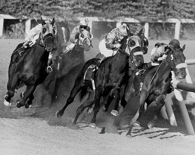 Photograph - Horse Race At Playfair by Underwood Archives