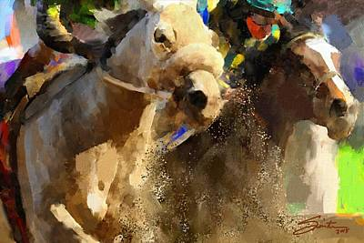 Horse Painting - Horse Race by Robert Smith