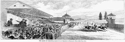 Horse Racing, 1867 Art Print by Granger