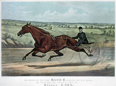 Harness Racing Painting - Horse Racing, 1880 by Granger