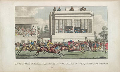 Ascot Photograph - Horse Racing At Ascot by British Library