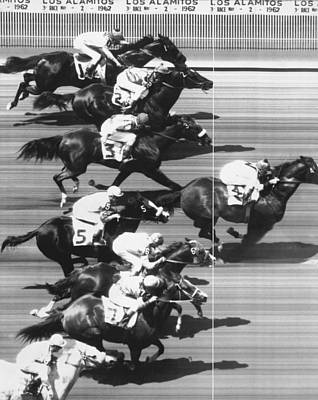 Horse Racing At Los Alamitos Art Print by Underwood Archives