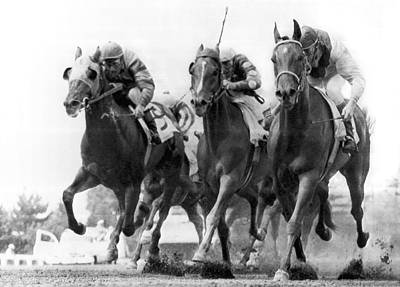 Professional Racing Photograph - Horse Racing At Monmouth Park by Underwood Archives