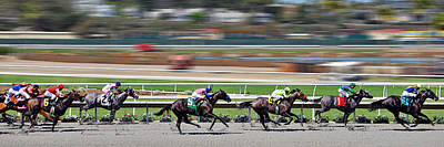 Animals Photos - Horse Racing by Christine Till
