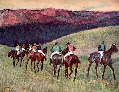 New Training Painting - Horse Racing by Edgar Degas