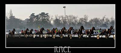 Photograph - Horse Racing - Hippodrome De Vincennes Paris by Daliana Pacuraru
