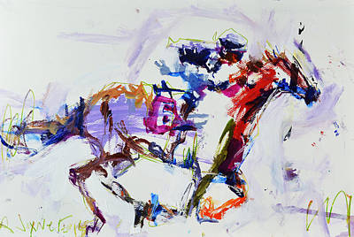 Horse Racing Print Art Print by Robert Joyner