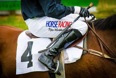 Photograph - Horse Racing by Robert L Jackson