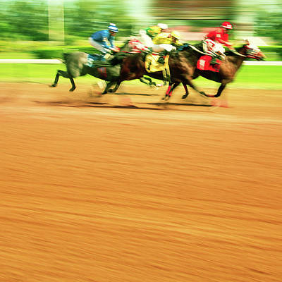Horse Racing Art Print by Thepalmer