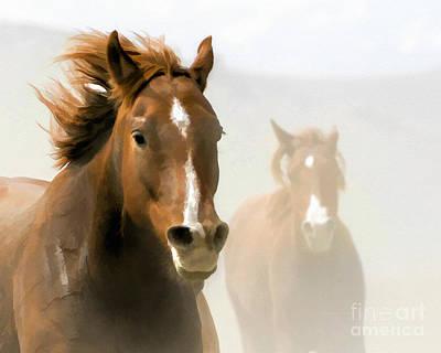 Horse - Red On The Run Art Print