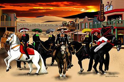 Mexicano Painting - Horse Ride by Marlon Ramirez