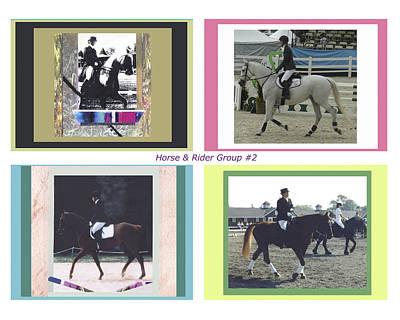 Horse Rider Group 2 Art Print