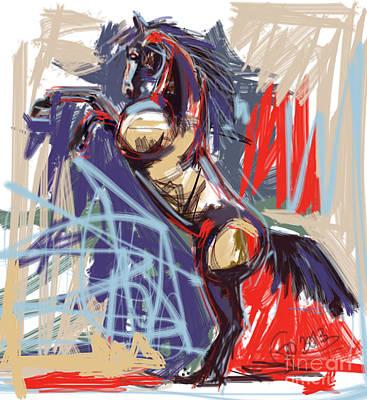Horse Art Painting - Horse Rising High by Go Van Kampen