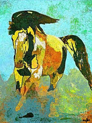 Painting - Horse Running Wild by Saundra Myles