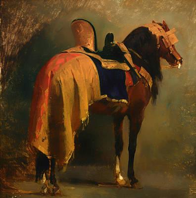 Horse Saddled Art Print