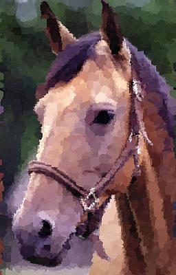 Painting - Horse by Samuel Majcen