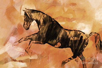 Painting - Horse Sepia by Lutz Baar