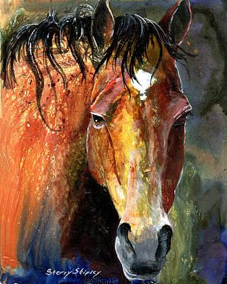 Horse Art Print by Sherry Shipley