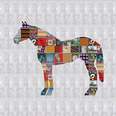 Mixed Media - Horse Showcasing Navinjoshi Gallery Art Icons Buy Faa Products Or Download For Self Printing  Navin  by Navin Joshi