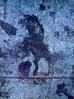 Horse Smashing Evil On Skid Row Art Print