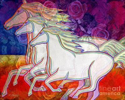 Metaphysical Painting - Horse Spirits Running by Joseph J Stevens