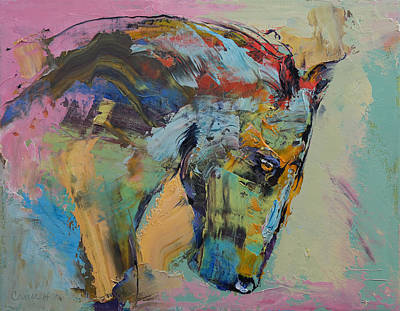 Horse Study Art Print by Michael Creese
