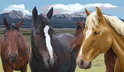 Wall Art - Painting - Horse Talk by Pam Little