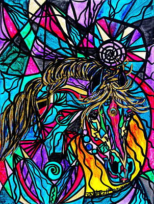 Horse Images Painting - Horse by Teal Eye  Print Store
