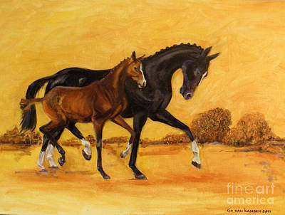 Horse - Together 2 Art Print