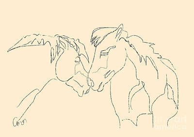 Horse - Together 3 Art Print