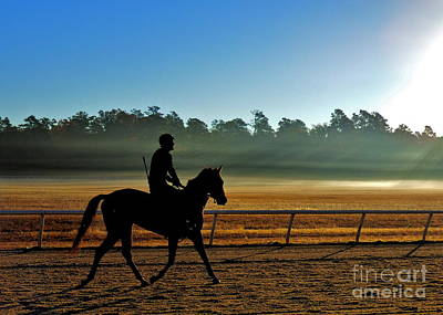 Horse Training At The Winter Colony Art Print