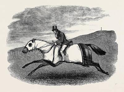 Horse Training Art Print by English School