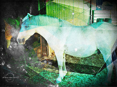 Digital Art - Horse Trippin' by Absinthe Art By Michelle LeAnn Scott