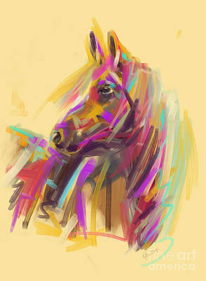 Painting - Horse True Colours by Go Van Kampen