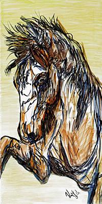 Nirvana - Horse Twins II by Erich Grant